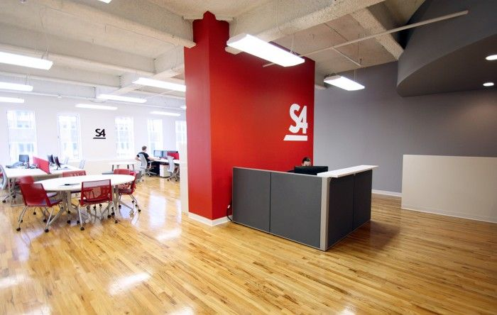 S4 office work area reception with people s cool offices - Color schemes for interior design ...