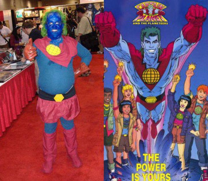 captain planet cosplay fail