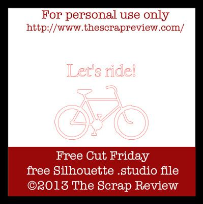 Free bicycle cutting file, by Ashley Harris #Silhouette #CutFile