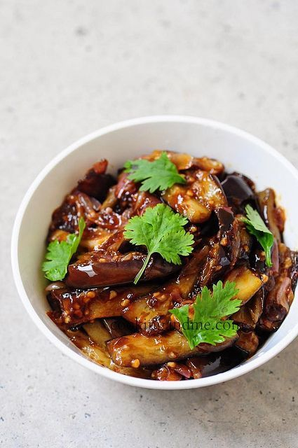 This Szechuan eggplant recipe is a delicious semi-dry spicy eggplant dish that's inspired by the cuisine of Szechuan province in China. Step by step recipe.