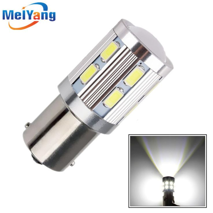 1156 BA15S 12 SMD Reverse Bulbs Cree Led Chip High Power lamp p21w R5W Car LED bulbs rear brake Lights Source parking 12V White