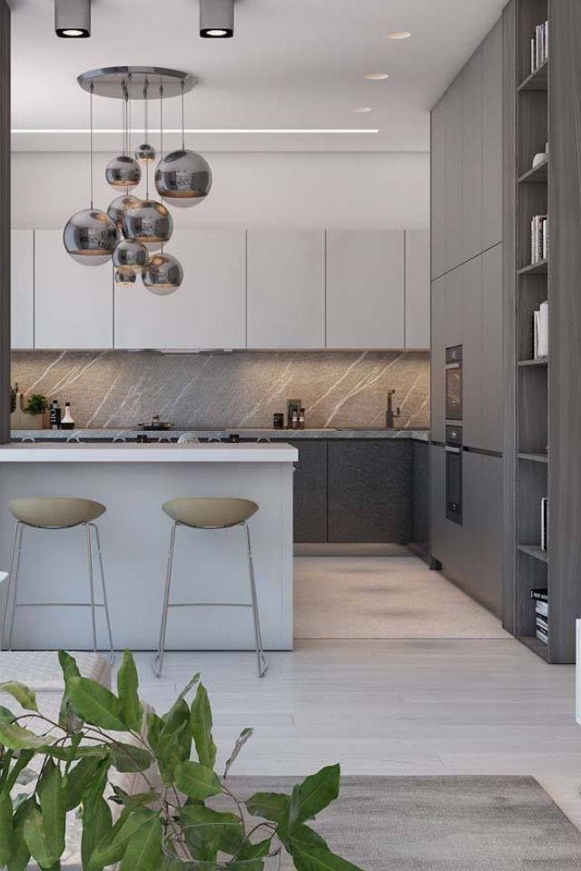 50 Moderne Küchendesigns Die Unkonventionelle Geometrie Verwenden