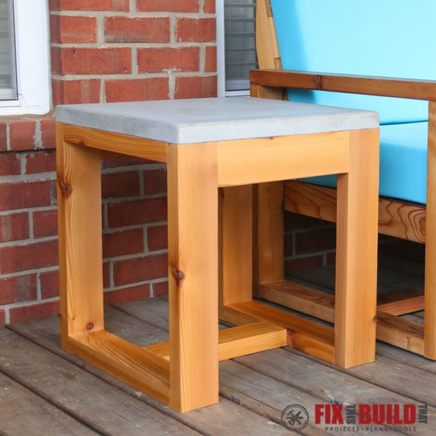how to build an outdoor table top