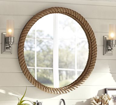 Rope Wrapped Round Mirror #potterybarn