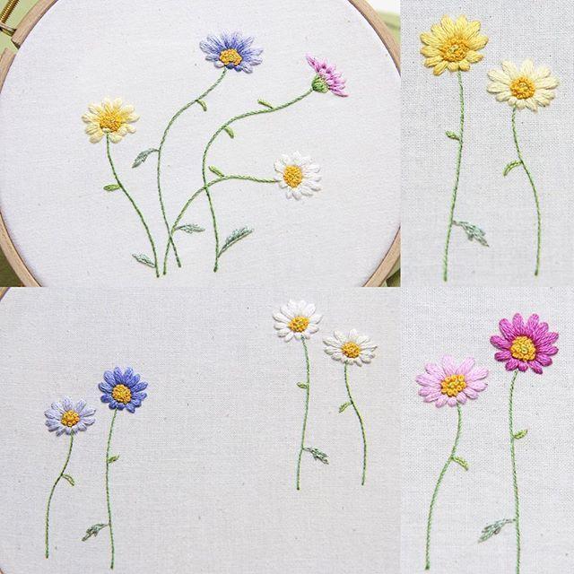 #embroidery #bajilda #flower #artist #야생화자수 #꽃자수 #바찔다 #needlepoint #needlework #stitch