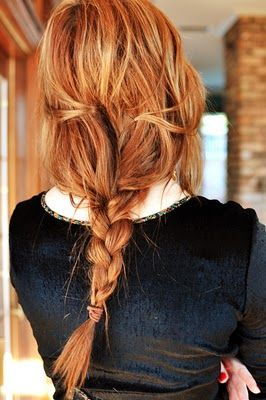 Loose braid. | Red Hair | Pinterest | Messy braids, Red hair and Hair style