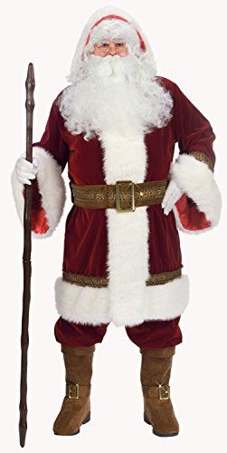 Buy Fun World Costumes Men's Adult Old Time Santa Hooded Robe Set  **    100% Polyester** **    Imported** **    Dry Clean Only** **    Zipper closure** **    Gloves included**  Buy From Amazon  http://www.amazon.com/gp/product/B0046HMFE2?tag=canreb0c-20