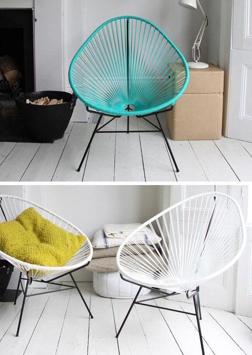 Vloer && Met de Acapulco stoel geef je je huis en/of tuin een fifties vibe!