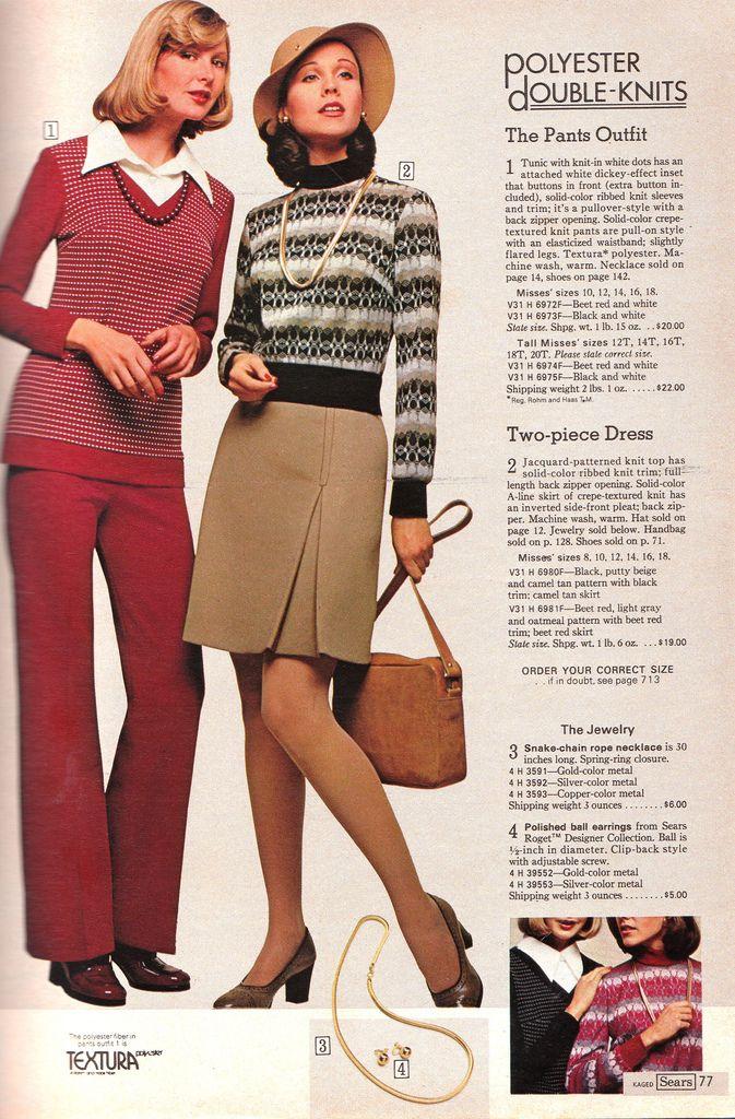 Catálogos # 37: Sears 1974 Moda feminina   Retrospace