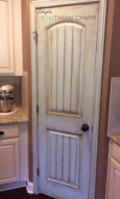 Beautifully painted pantry door!