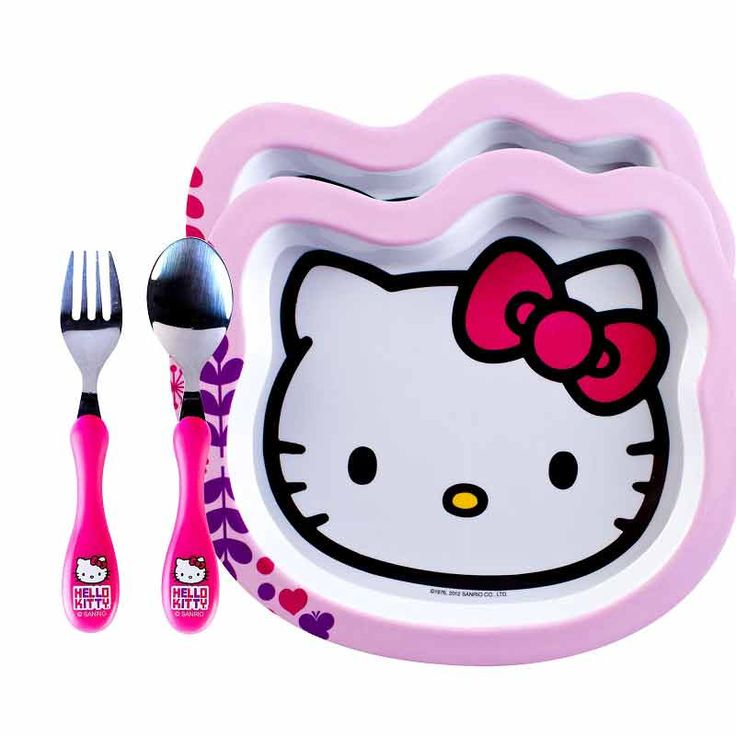 Hello Kitty Kids Dinner Set - front view