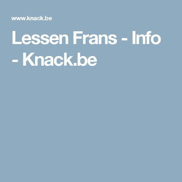 Lessen Frans - Info - Knack.be