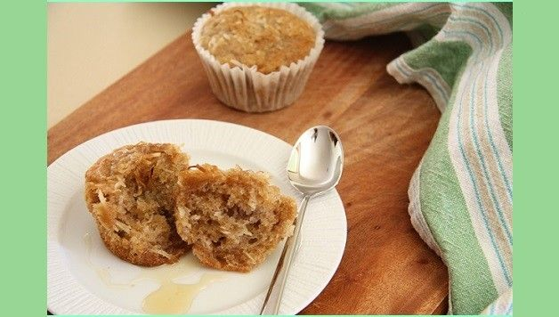 Banana and Coconut Gluten Free Muffins Recipe. Deeeeelicious, fresh from the oven with GF vanilla ice-cream and honey! Yummy!