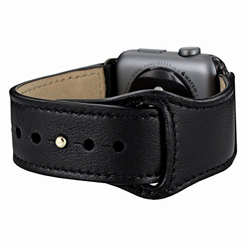 Piel Frama Armband Case for Apple Watch 42 mm - Black. Fits wrists between 15-20cm in diameter. Introducing the Piel Frama Apple Watch leather wrist strap. This beautiful high quality leather strap will add style and elegance to your new Apple Watch.