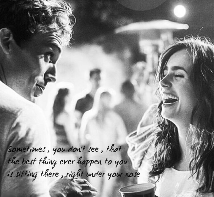 """Choosing the person that you want to share your life with is one of the most important decisions any of us makes. Ever. Because when it's wrong, it turns your life to grey. And sometimes, sometimes you don't even notice. Until you wake up one morning and realise years have gone by. Both we know about that, right Alex?"" love,rosie"