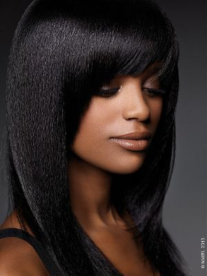 Beautiful Long Black Homecoming Hairstyle