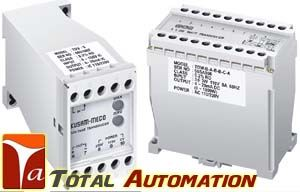 Kusam Meco- TD SERIES AC VOLTAGE TRANSDUCER - Total Automation Dual Aux. Power 110/220V AC High Accuracy 0.2% RO at 23oC± 5oC High Dielectric Strength 2.6KV AC / Min, Between Input / Output/ Power Case ABS Plastic Case, DIN Rail or Wall Mounting