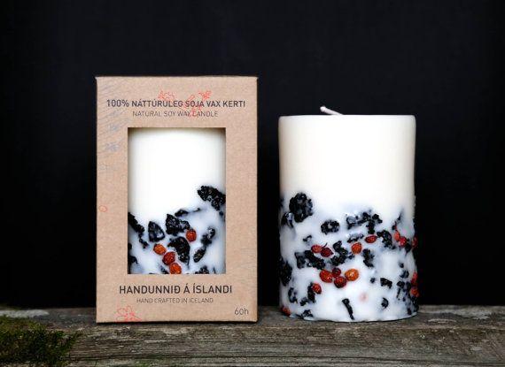 Genuine Icelandic Soy Wax Candle. Rowan berries and 2000 door Railis, $22.00