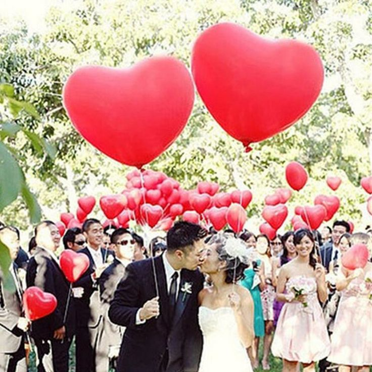 Cheap Balloons 1pcs 36inch Large Size Love Heart Pearl Latex Balloons Inflatable Helium Balls Wedding Birthday Party Decoration