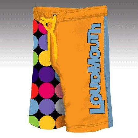 Loudmouth Golf Mens Boardshorts  Disco Balls Black  Orange  Size 32 *** Click on the image for additional details. Note:It is Affiliate Link to Amazon.