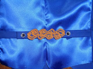 Gallimaufry: Irish dance - detail of the back of the waistcoat.