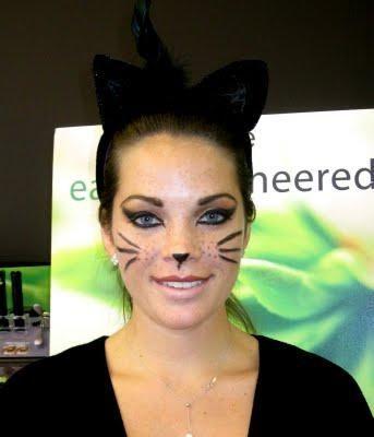 DIY Halloween Makeup : Halloween makeup The cat: