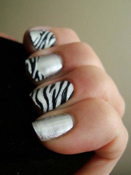 ♥283 silver Nail Art Designs | Decoración de Uñas en Animal Print 10 Decoración de Uñas en Animal ...