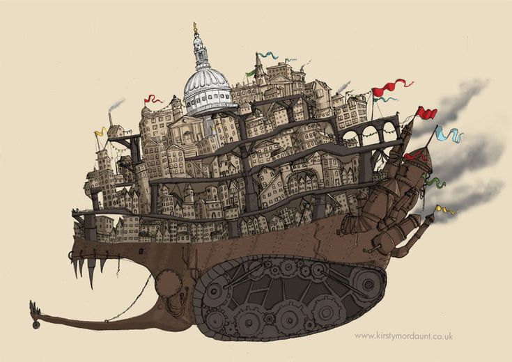 Mortal Engines - London by ~DragonLady4 on deviantART
