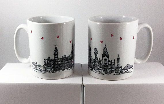 Edinburgh Skyline Mug  Ceramic mug  Edinburgh city lovers