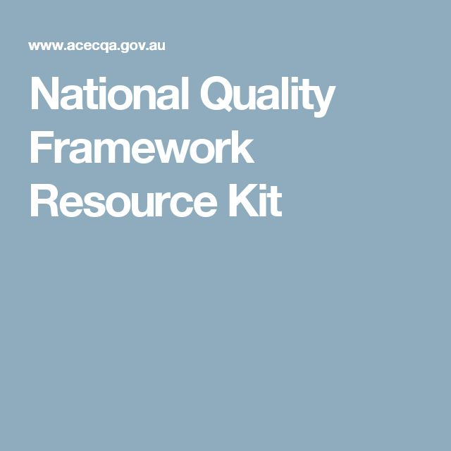 National Quality Framework Resource Kit