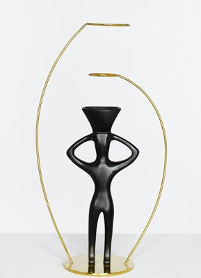 Andrea Branzi  Antheia vase,  2006  Design Gallery Milano edition  Edition of 20    Ceramic and gilded metal  h 17 3/4 in. cm d 7 3/4 in.  h 45 cm d 20 cm