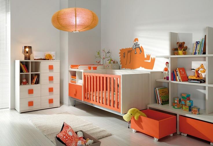 Orange & white theme #nursery #decor