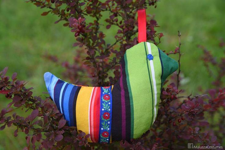 hand sewn - cotton folk bird