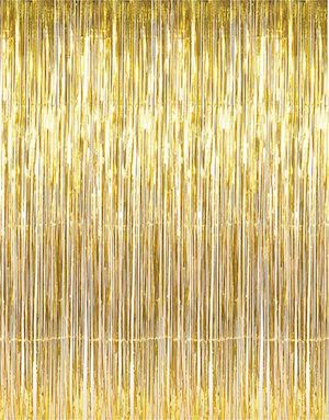 GOLD FRINGE MYLAR CURTAIN BACKDROP  Photo Booth backdrop in Gold foil perfect for birthday parties, weddings, or any event.  Bonjour Fete - A cute party supply boutique store now shipping from Los Angeles, CA