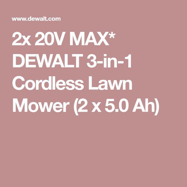 2x 20V MAX* DEWALT 3-in-1 Cordless Lawn Mower (2 x 5.0 Ah)