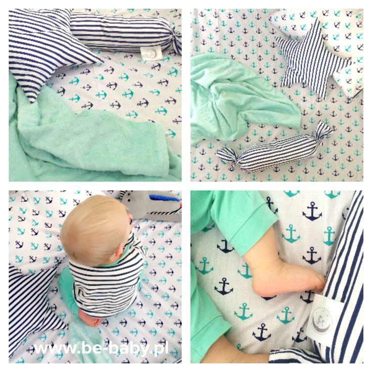 Dziś prezentujemy Wam nasze piękne kotwice ⚓️⚓️⚓️ jesteśmy w nich zakochani 💙💚💙💚💙 #dziendobry #goodmorning #bebaby #poscieldladzieci #beddingforbabies