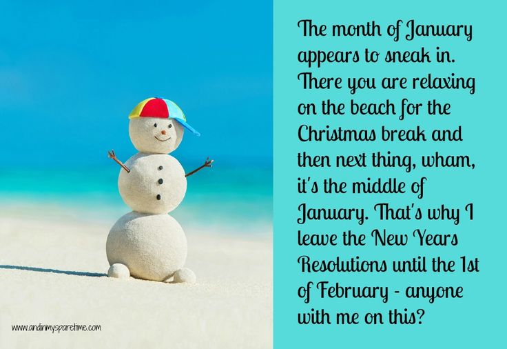 My New Year's Resolution – that I'll get to in February (maybe)