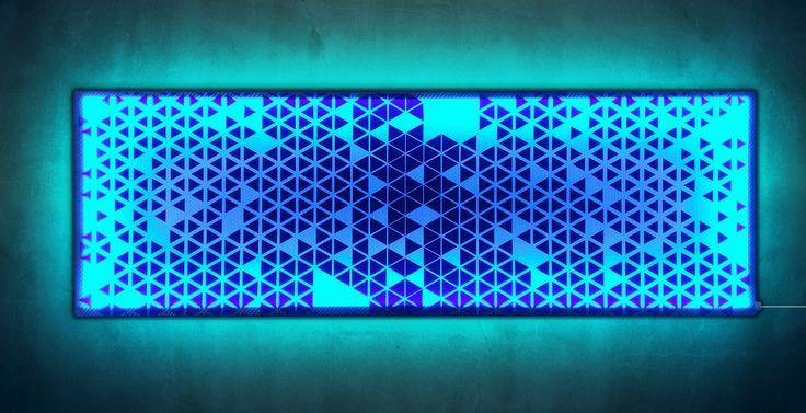 Leuchtbild 35x98cm – SELBST GESTALTEN! – MOTIF LIGHTS