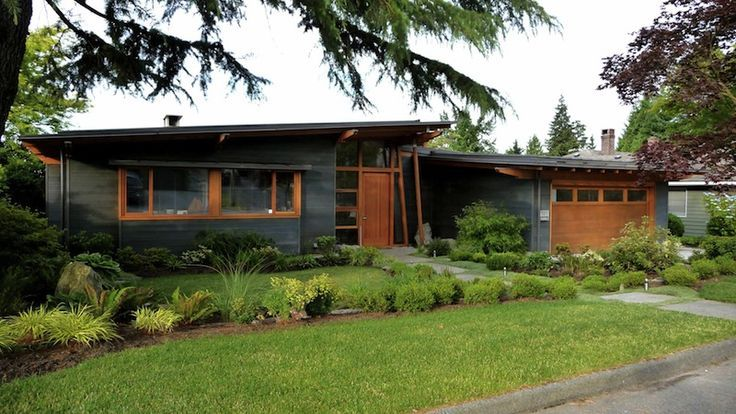 multi level mid century post and beam house - Google Search