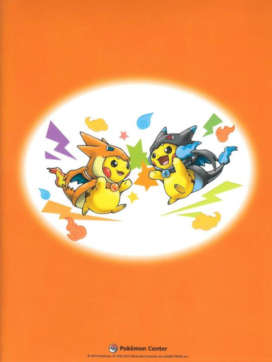 pikachu-mega charizard Y y mega charizard X