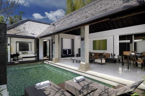 5 one bedroom pool villas Private pool of 6X3 meters Living room Kitchenette Pool deck area