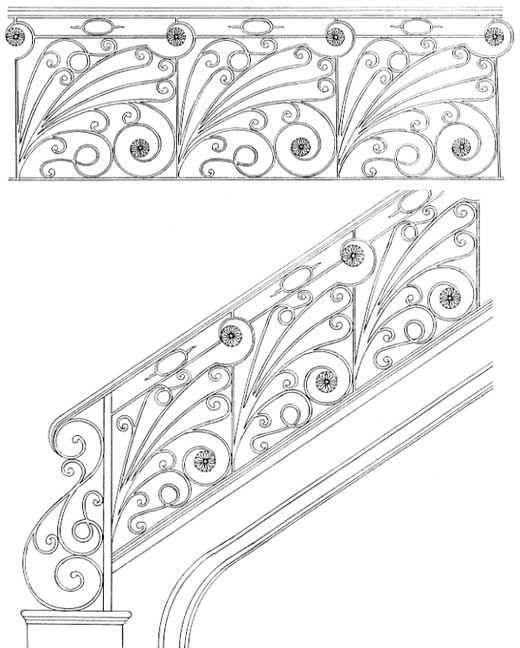 Stair Railing Designs ISR093
