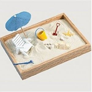 Executive Sandbox - A Day at the Beach | Cubicle Bliss | CubicleBliss.com | @CubicleBliss | facebook.com/cubiclebliss | If you are looking for a fun toy for your #cubicle or #office, this Executive Sandbox is a great addition! The article also contains a YouTube video.