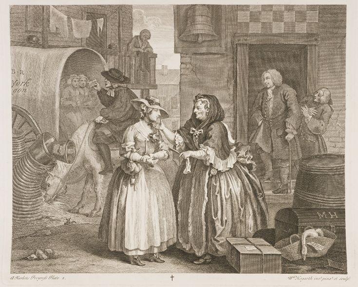 Уильям Хогарт. Карьера проститутки. 1732 г.