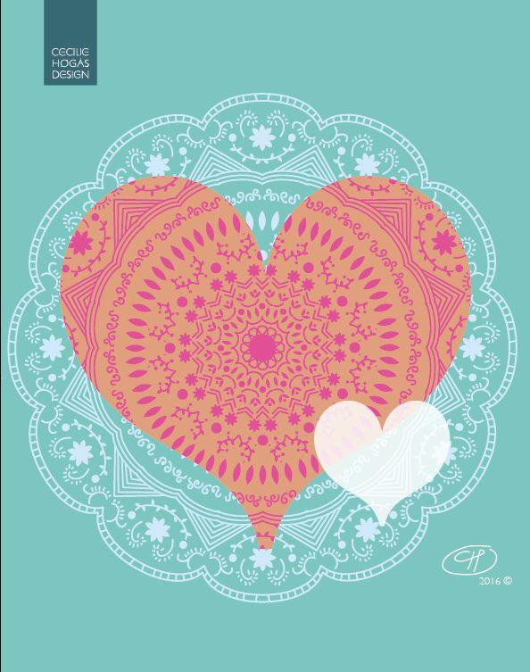 Cecilie-design: Valentines day mandala