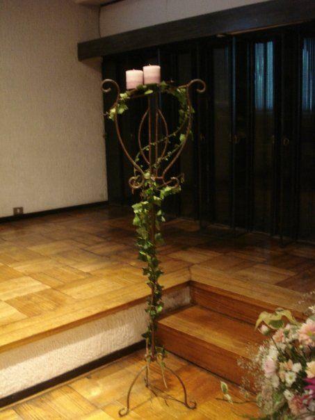Cirios de símbolo de unión  entre pareja y Dios