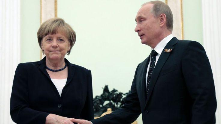 Merkel to meet Putin to discuss crises in Syria and Ukraine - BBC News