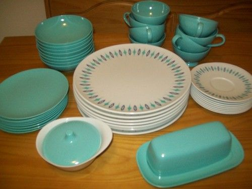 Vintage 42pc 8 Setting Texas Ware Melmac Dinner Set