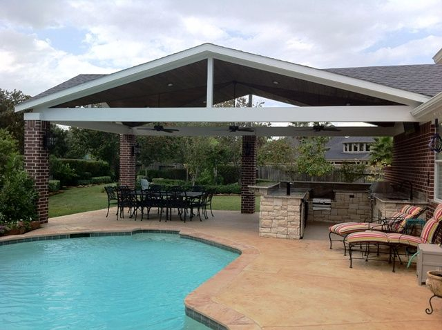 Covered Outdoor Kitchens in Houston Texas by Outdoor Homescapes