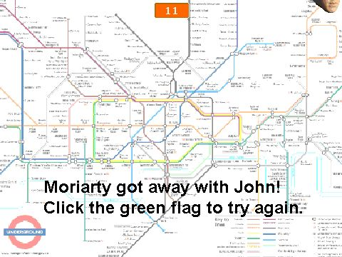 'Save John!' Game (click) ...This...I just...I really just don't know what to say... This is a game...where you are a floating Sherlock head...trying to save a floating John head...from a floating Moriarty head...over a map of the London underground... I'm gonna go ahead and make a really bold statement: This is the most profound example of needing Series 3 that I have seen so far. ...UPDATE: The longer you play, the more floating Moriarty heads there are! Also, this game is slightly…